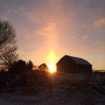 "Early winter 2014 ""fire in the sky"""